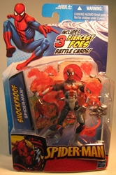Spider-Man 4 inch figure - Shockproof Spider-Man Hasbro, Spider-Man, Action Figures, 2009, superhero, comic book