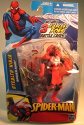 Spider-Man 4 inch figure - Stealth Ninja Spider-Man Hasbro, Spider-Man, Action Figures, 2009, superhero, comic book
