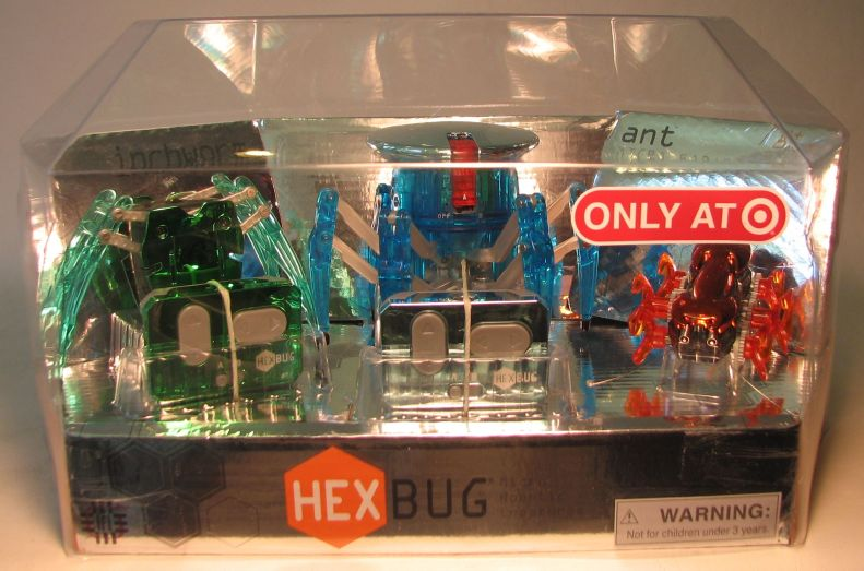 Hex Bug Micro robotic Creatures 3-pack (inchworm + spider + ant) Innovation First, Hex Bug, Action Figures, 2011, robots