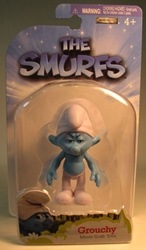 Smurfs - 2.5 inch figure - Grouchy Jakks, Smurfs, Action Figures, 2011, animated, cartoon, movie
