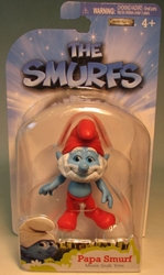 Smurfs - 2.5 inch figure - Papa smurf Jakks, Smurfs, Action Figures, 2011, animated, cartoon, movie