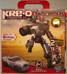 Transformers Kreo 30690 Prowl/police car kit 174 pieces Hasbro, Transformers, Legos & Mega Bloks, 2010, scifi, movie