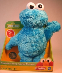 Sesame Street Squeeze-a-song Cookie Monster 10 inch plush Hasbro, Sesame Street, Plush, 2011, easter