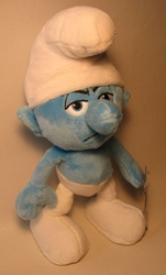 Smurfs 10 inch plush - Grouchy Jakks, Smurfs, Action Figures, 2011, animated, cartoon, movie