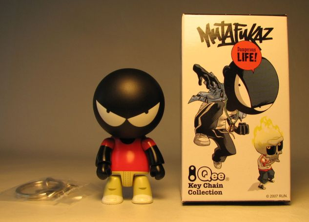Mutafukaz 2.5 inch Qee Angelino Toy2R, Qee, Action Figures, 2007, collectible