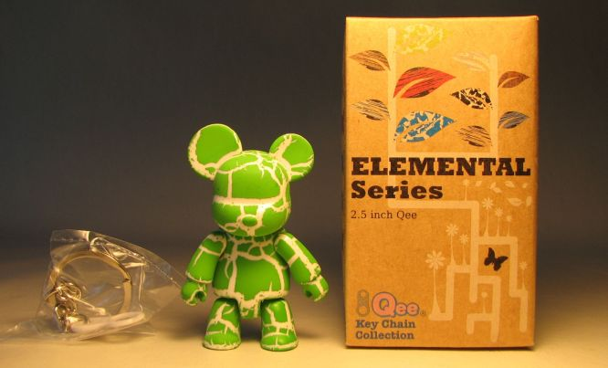 Toy2R Qee 2.5 inch Elemental Series (crackle green) Toy2R, Qee, Action Figures, 2010, collectible