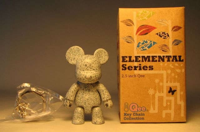 Toy2R Qee 2.5 inch Elemental Series (granite gray) Toy2R, Qee, Action Figures, 2010, collectible