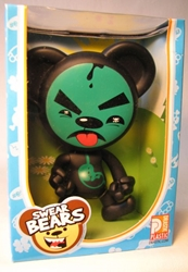 Swear Bears 6 inch vinyl Poisoned Bear Drastic Plastic, Swear Bears, Action Figures, 2004, collectible