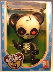 Swear Bears 6 inch vinyl Skeleteddy Drastic Plastic, Swear Bears, Action Figures, 2004, collectible