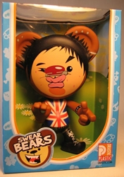 Swear Bears 6 inch vinyl Brit Bear Drastic Plastic, Swear Bears, Action Figures, 2004, collectible