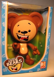 Swear Bears 6 inch vinyl Brown Bear Drastic Plastic, Swear Bears, Action Figures, 2004, collectible