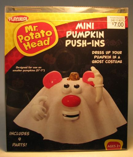 Mr Potato Head Mini Pumpkin Push-ins - Ghost Costume Hasbro / PMG, Mr Potato Head, Preschool, 2012, collectible