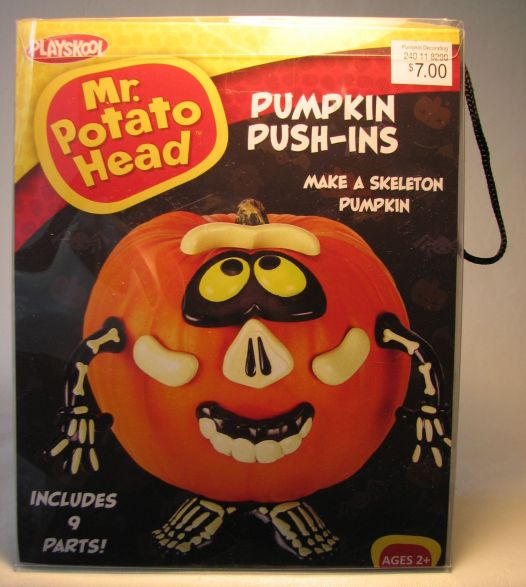 Mr Potato Head Pumpkin Push-ins - Make a Skeleton Pumpkin Hasbro / PMG, Mr Potato Head, Preschool, 2012, collectible