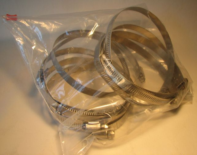 Stainless Worm Gear Hose Clamp 5 inch diameter 10-Pack Ideal, Ideal, Home-Plumbing, 1990
