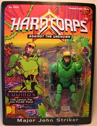 Drastic Plastic Hard Corps Figure Major John Striker 4.75 inch Drastic Plastic, Hard Corps, Scifi, 1994, scifi, comic book