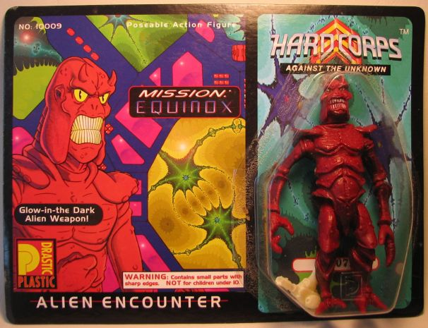 Drastic Plastic Hard Corps Figure Alien Encounter 5 inch Drastic Plastic, Hard Corps, Scifi, 1994, scifi, comic book