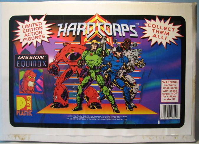 Drastic Plastic Hard Corps Set Box Only Drastic Plastic, Hard Corps, Scifi, 1994, scifi, comic book