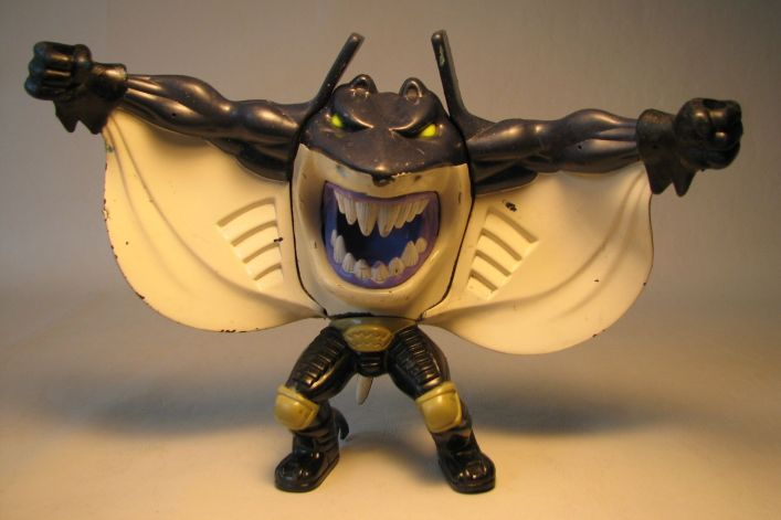 Mattel Street Sharks 5.5 inch Mantaman LOOSE Mattel, Street Sharks, Action Figures, 1995, kidfare