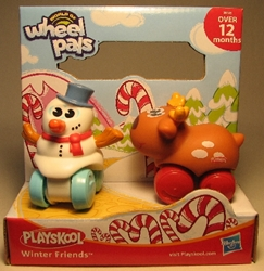 Playskool Wheel Pals 2.5 inch Preschool - Winter Friends 2-pack Playskool, Wheel Pals, Preschool, 2011
