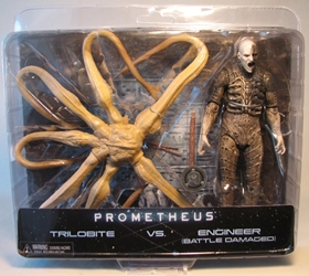 NECA Prometheus Trilobite vs (Battle-Damaged) Engineer NECA, Prometheus, Action Figures, 2012, scifi, movie
