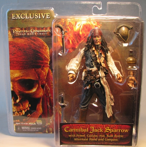 Pirates of Caribbean NECA DMC Cannibal Jack SDCC Excl NECA, Pirates of the Caribbean, Action Figures, 2004, pirates, movie
