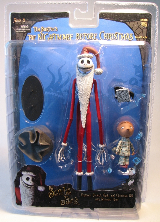 Nightmare Before Christmas NECA Santa Jack + Kid NECA, Nightmare Before Christmas, Action Figures, 2006, halloween, movie
