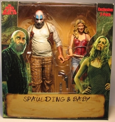 NECA Devils Rejects Spaulding & Baby 2-pack 7 inch figs NECA, Devils Rejects, Action Figures, 2005, horror, halloween, movie
