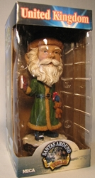 NECA Santas Around the World Head Knockers - UK Father Christmas Neca, Santas Around The World, Bobble-Heads, 2005, Christmas