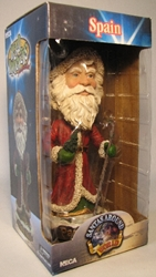 NECA Santas Around the World Head Knockers - Spain Papa Noel Neca, Santas Around The World, Bobble-Heads, 2005, Christmas