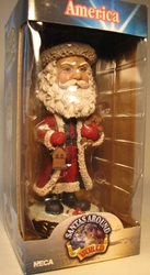 NECA Santas Around the World Head Knockers - America Santa Claus Neca, Santas Around The World, Bobble-Heads, 2005, Christmas