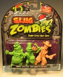 S.L.U.G. Zombies Series 1 Figurines 3 pack w Buck Wilde Jakks, S.L.U.G. Zombies, Action Figures, 2012, horror, halloween