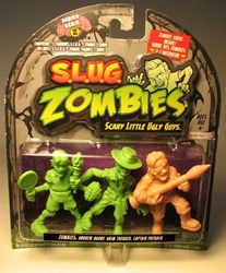 S.L.U.G. Zombies Series 2 Figurines 3 pack w Capt Payback Jakks, S.L.U.G. Zombies, Action Figures, 2012, horror, halloween