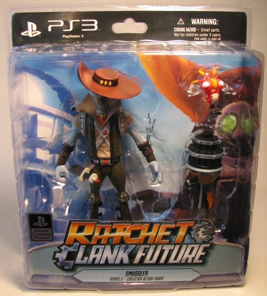 Ratchet & Clank Future Series 2 Figure - Smuggler 7 inch DC Unlimited, Ratchet & Clank, Action Figures, 2010, scifi, video game