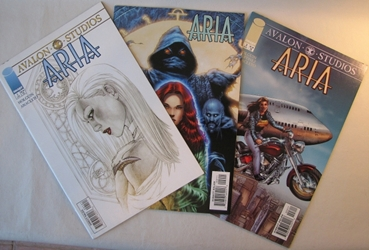 Aria Vol 1 #1-3 Complete Set First Printing Image Comics Image, Aria, Comic Books, 1999, fantasy, comic book