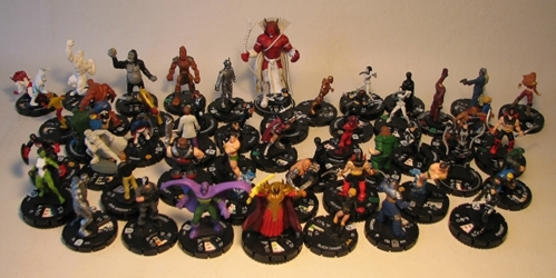 Wizkidz lot of 50+ Heroclix figures LOOSE