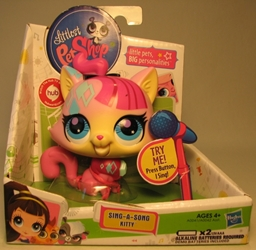 Littlest Pet Shop Sing a Song Kitty Hasbro, Littlest Pet Shop, Littlest Pet Shop, 2011, cute animals, online site