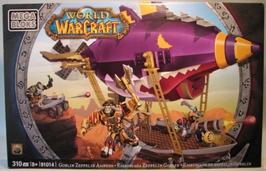 World of Warcraft 91014 Goblin Zeppelin Ambush Mega Bloks, World of Warcraft, Legos & Mega Bloks, 2012, fantasy, video game