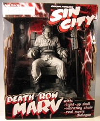 NECA Sin City Death Row Marv (on chair) NECA, Sin City, Action Figures, 2005, crime, comic book