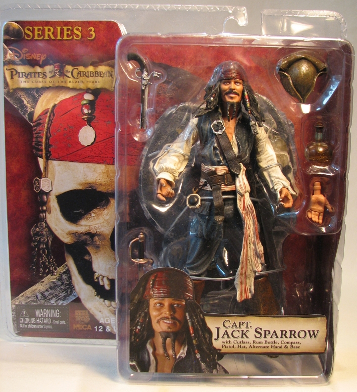 Pirates of Caribbean NECA CBP3 Capt Jack Sparrow (drunk) NECA, Pirates of the Caribbean, Action Figures, 2006, pirates, movie