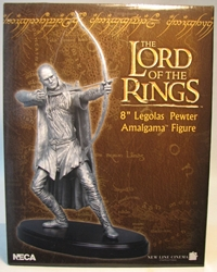 NECA Lord of the Rings 8 inch Legolas Pewter Amalgama Figure NECA, Lord of the Rings, Statues, 2011, fantasy, movie
