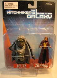 NECA Hitchhikers Guide to the Galaxy - 3 inch Jeltz & Zaphod NECA, Hitchhiker, Action Figures, 2005, scifi, movie