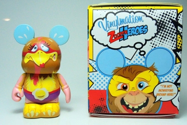 Vinylmation Zooper Heroes 3 inch Figure Chicken Disney, Vinylmation, Action Figures, 2012, kidfare, art