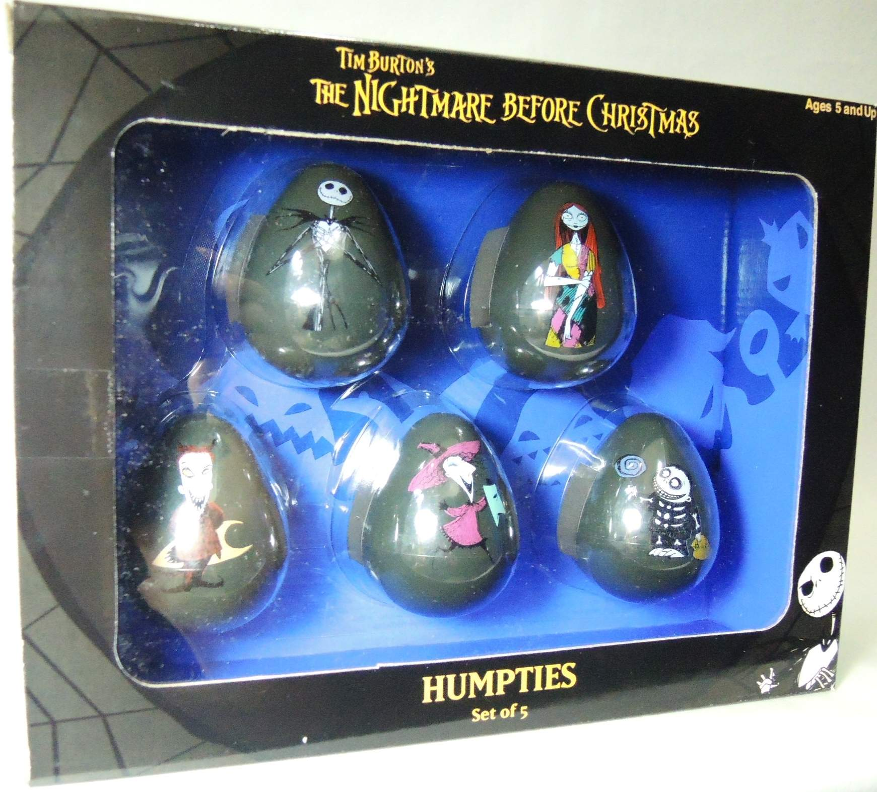 NECA Nightmare Before Christmas Humpties Set of 5 Wobblers NECA, Nightmare Before Christmas, Preschool, 2004, halloween, movie