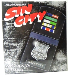 NECA Sin City Prop Replica Police Badge - Rafferty Wallet NECA, Sin City, Action Figures, 2011|Color~black, crime, comic book