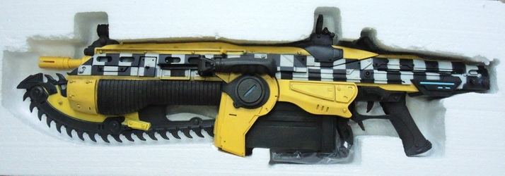NECA Gears of War 3 Lancer Replica Taxicab 13 (yellow) NECA, Gears of War, Action Figures, 2012, scifi, video game