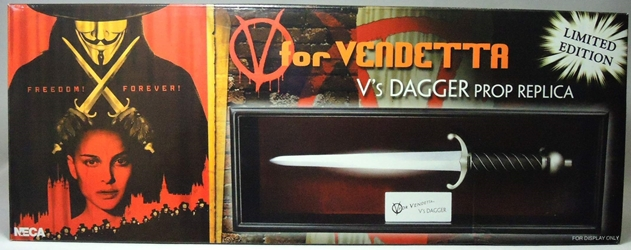 NECA V for Vendetta Prop Replica Dagger in Deluxe Case NECA, V for Vendetta, Action Figures, 2011, historical, movie