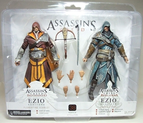 NECA Assassins Creed - Ezio 2-pack (Floretine Scarlet + Caspian Teal)