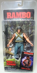 Neca Rambo Series 1 First Blood John J Rambo Action Figure NECA, Rambo, Action Figures, 2013, military, movie
