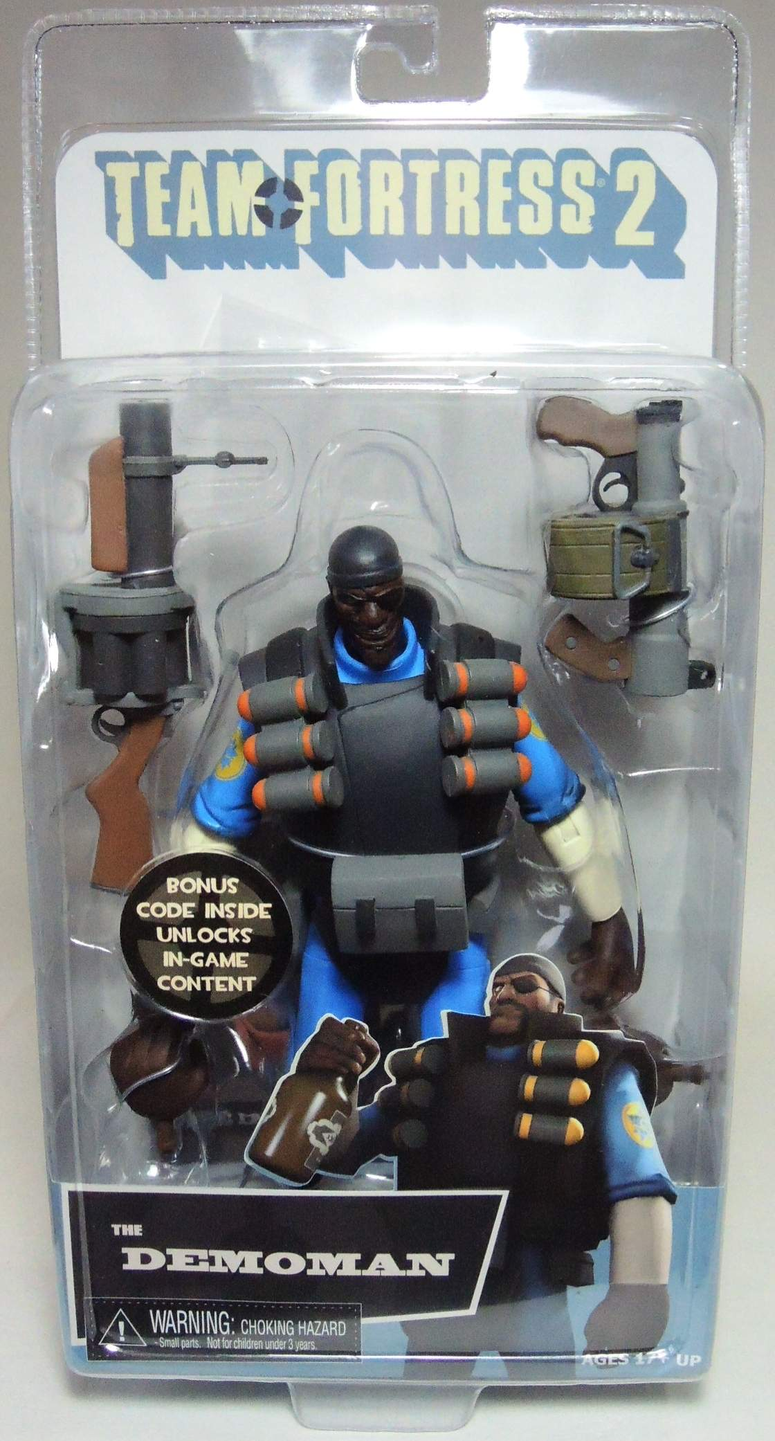 NECA Team Fortress 2 The Demoman (blue) 6.5 inch figure