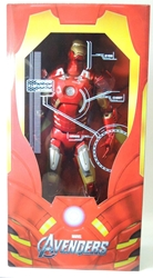 NECA Avengers 1/4 scale Iron Man Figure with light-up LEDs